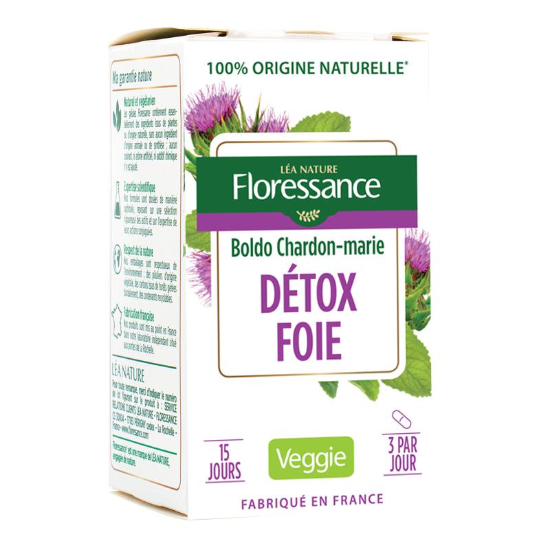 Gélule végétale DETOX FOIE - Boldo Chardon-marie | Floressance